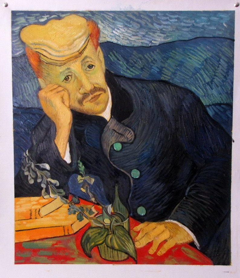 Van Gogh Portrait Of Dr Gachet Oil Painting Reproduction On Linen Canvas Handmade Quality