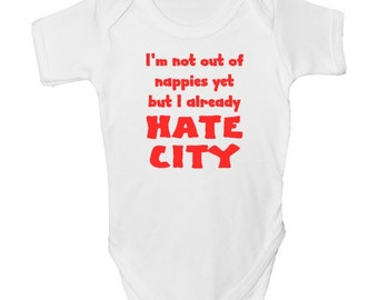 cfb542da2 Manchester United Funny Baby Grow with FREE P P Made from 100% Soft Natural  Cotton.