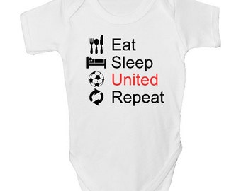 1c5b366fa Manchester United Funny Baby Grow with FREE P P Made from 100% Soft Natural  Cotton.