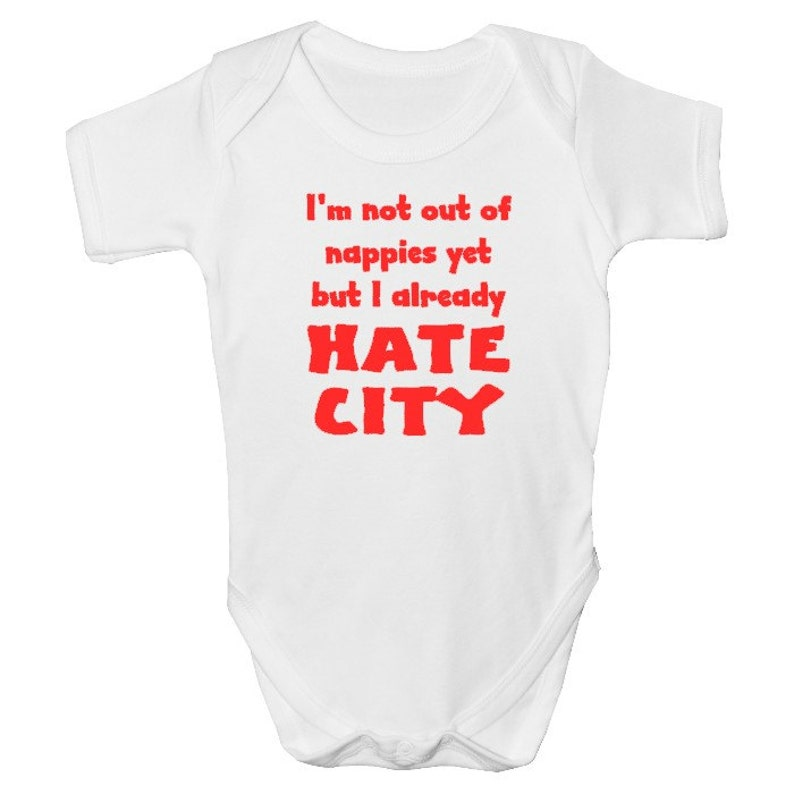 8634e8d7d Manchester United Funny Baby Grow with FREE P P Made from