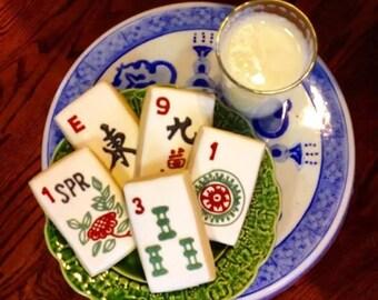 MahJong Cookies ~ One Dozen