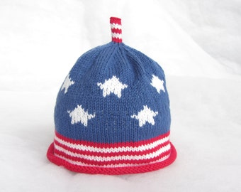 All natural pure cotton  American  baby hat. Size 3-6 months. 00581cd472b0