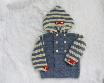 All natural hooded toddler coat. Size 3 years.