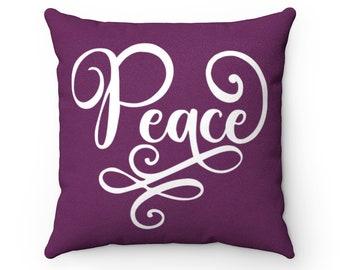 Peace Joy Pillow Etsy
