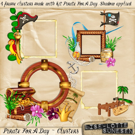 Pirate For A Day Clip Art Pack Digital Clusters Instant Etsy
