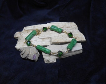 Lovely Faux Carved Jade polymer clay, bracelet, jewelry, pendant, necklace, charm, handmade, one of a kind, polymer clay jewelry,