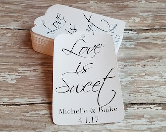 Love is Sweet Tag, Wedding Tag, Bridal Shower Tag, Gift Tag, Party Favor, Wedding Favor, Thank you, Gift Tag, Bridal Shower, baby (028)
