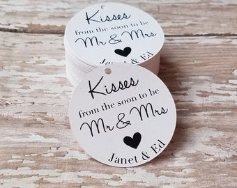 Mini Kisses from the soon to be Mr and Mrs, Bridal Shower Tag, Wedding Favor, Bridal Shower Favor, Party Favor, Future Mr and Mrs (144)