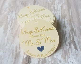 Mini Hugs and Kisses from  Mr and Mrs, Bridal Shower Tag, Wedding Favor, Bridal Shower Favor, Party Favor, Future Mr and Mrs (144)