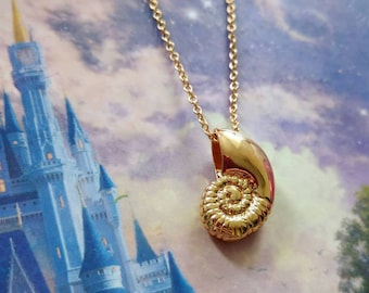 Ariel Voice Seashell Ursula The Little Mermaid Disney inspired conch shell necklace