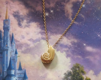 Ariel Voice Ursula Mermaid The Little Mermaid Disney inspired conch shell necklace Silver Gold Rose Gold Disney Inspired Gift