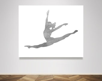 Instant download silhouette gymnastics dance dancer | etsy.