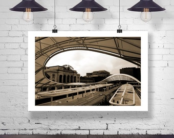 Photograph - Union Train Station in Denver Colorado Fine Art Photography Print Wall Art Home Decor