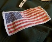 6 quot or 12 quot Retro Vintage American Flag Patch - Make new clothes look vintage or breath new life into old clothing.