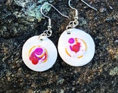 Abstract white- polymer clay earrings