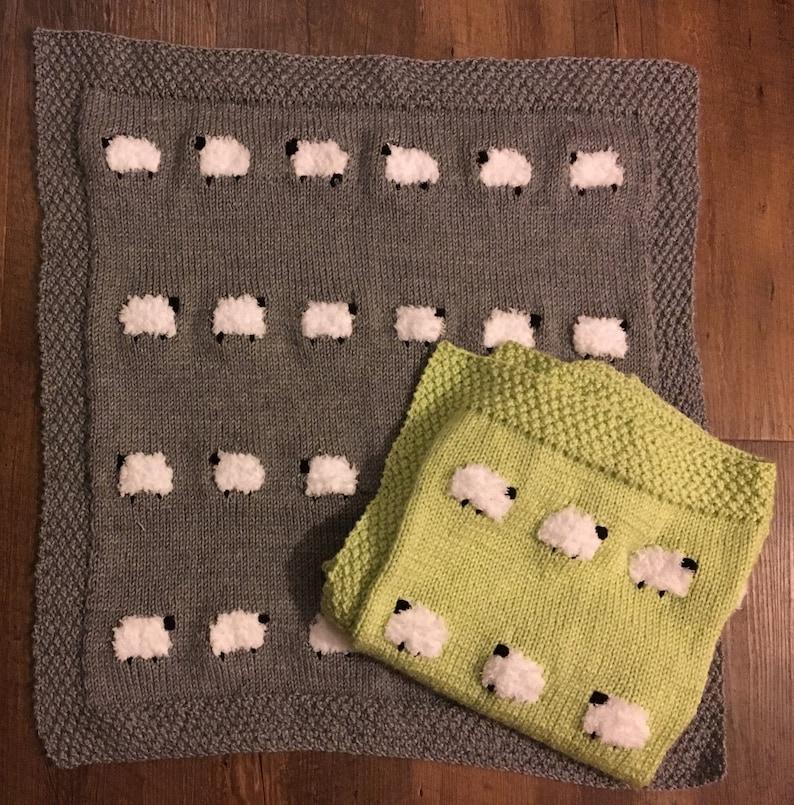 cd49ee367 Sheep baby blankie sheep baby blanket knit sheep blanket