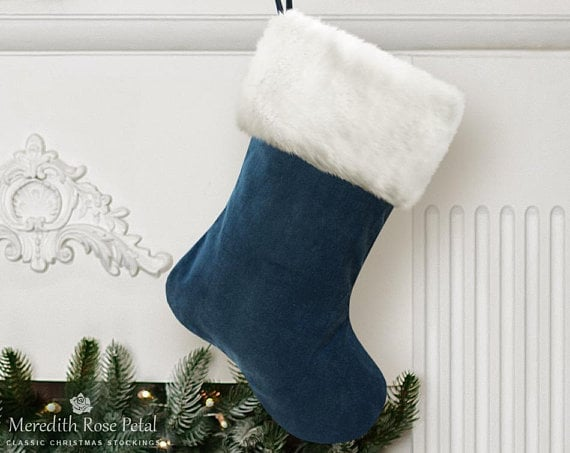 image 0 - Blue Christmas Stocking