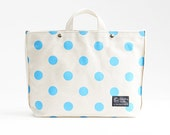 Tote bag with shoulder strap / High quality Japanese canvas / Polka dot - color options