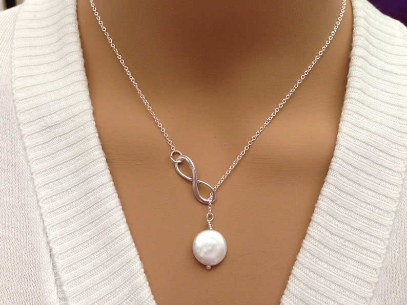 cb58ff86dcc31 Beatiful Fresh Water Coin Pearl Lariat Necklace !!!