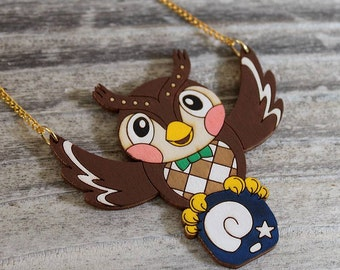 Animal Crossing Blathers Necklace