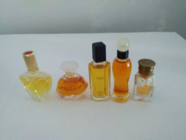 Lot Of 5 Vintage Mini Perfume Bottles Escada Versace Etsy
