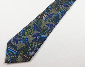 Made in Australia Sale Vintage Australian Aboriginal Koala Bear Design Polyester Necktie by Balarinji