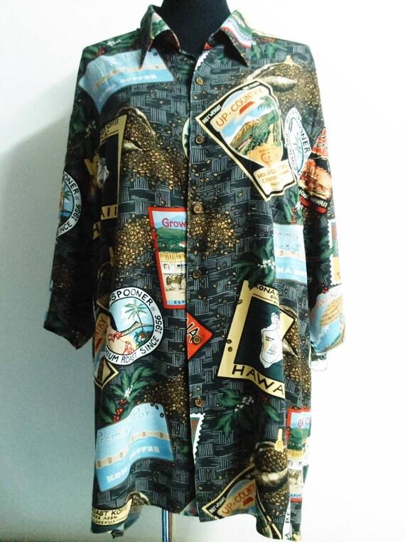 "Reyn Spooner Hawaiian Shirt ""XXL"" Spun Rayon Aloha"