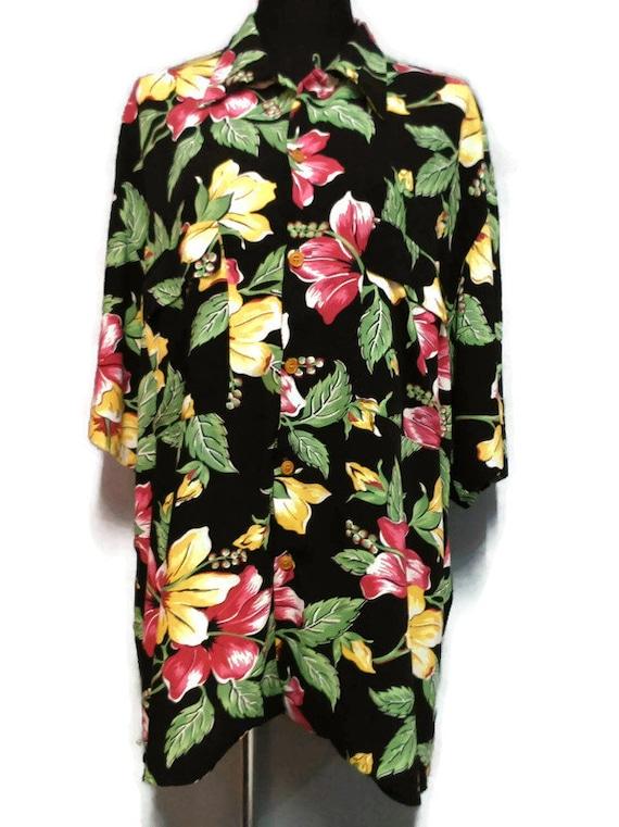 "Vintage Reyn Spooner Hawaiian Shirt ""L"" Rayon Aloh"
