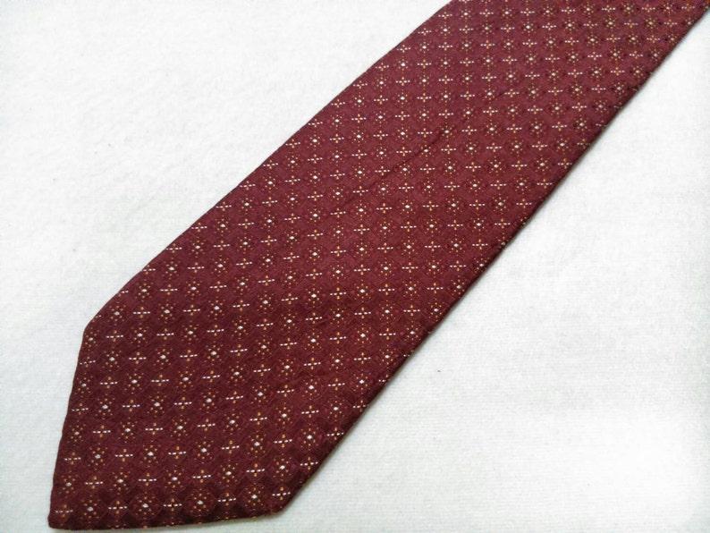 Vintage Aquascutum Necktie  Pattern Silk Tie Made In Japan