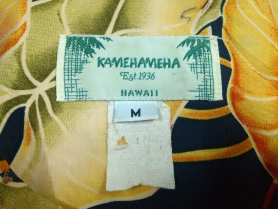 "Vintage Kamehameha Hawaiian Shirt ""M"" Rayon Aloha… - image 2"