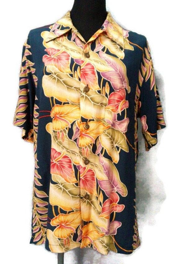 "Vintage Kamehameha Hawaiian Shirt ""M"" Rayon Aloha… - image 1"