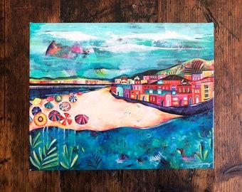 Capitola Beach, California Gallery Wrap Canvas. Santa Cruz. Beach Decor. Room Decor. Beach House Art. Perfect Gift.