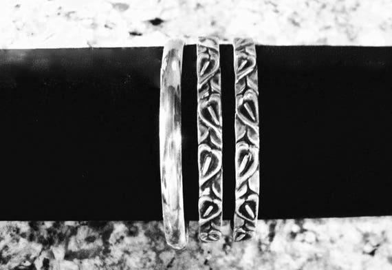Danecraft Calla Lily Sterling Silver Bangle Bracelet