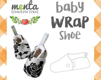 Menta Baby wrap shoes slippers diy ebook tutorial sewing pattern PDF booties minimalist