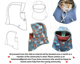 Snugglehood Facemask Charity Add-on face mask balaclava diy sewing pattern Schnittmuster PDF tutorial beginners