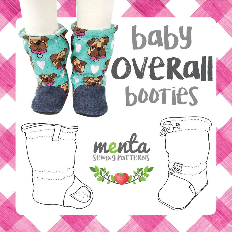 Baby and toddler overall outdoor booties PDF sewing pattern and tutorial ebook DIY mocs shoes slippers