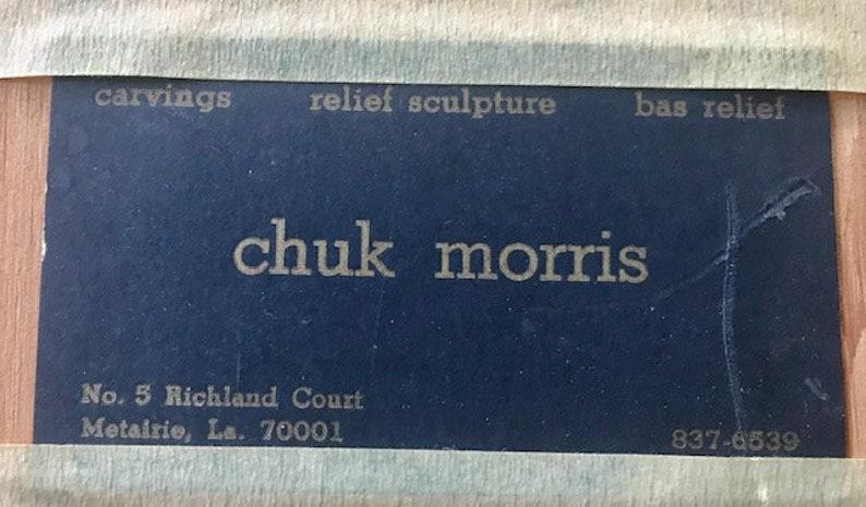 Chuk Morris Mixed Media Sculpture Ancient Mexican Stamp