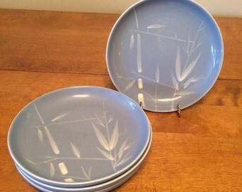Vintage Mid Century Modern Winfield Blue Pacific Salad Plates - set of 4