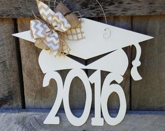 2020 Graduation Door Hanger - Painted Graduate Wreath - Graduation Party Decor