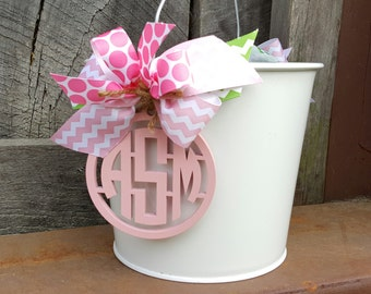 Personalized Easter Bucket - Monogram Easter Pail - Custom Easter Basket