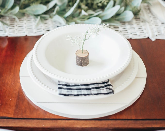 Farmhouse Decor - Shiplap Decor - Dining - Tablescape - Shiplap Charger Plate - Placemat - Rustic - Wooden