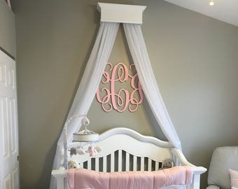 Painted Nursery Wall Monogram - Monogram Wall Hanging - Wooden Initials - Wall Letters - Monogram Decor - Bedroom Wall Hanging