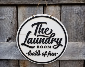 Laundry Room Wall Hanging - Shiplap Door Hanger - Farmhouse Decor - The Laundry Room Sign