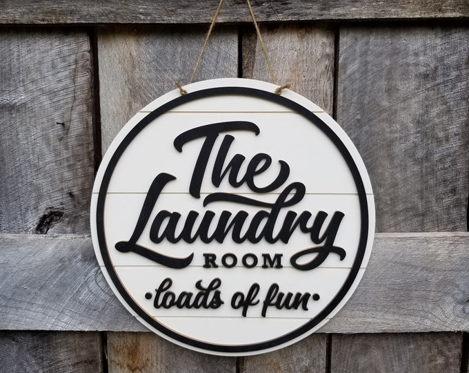 Laundry Room Wall Hanging - Shiplap Door Hanger - Farmhouse Decor - The Laundry Room Sign