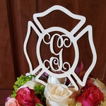 Maltese Cross Cake Topper - Unpainted Fireman Cake Decor - Fire Fighter - Wedding - Personalized