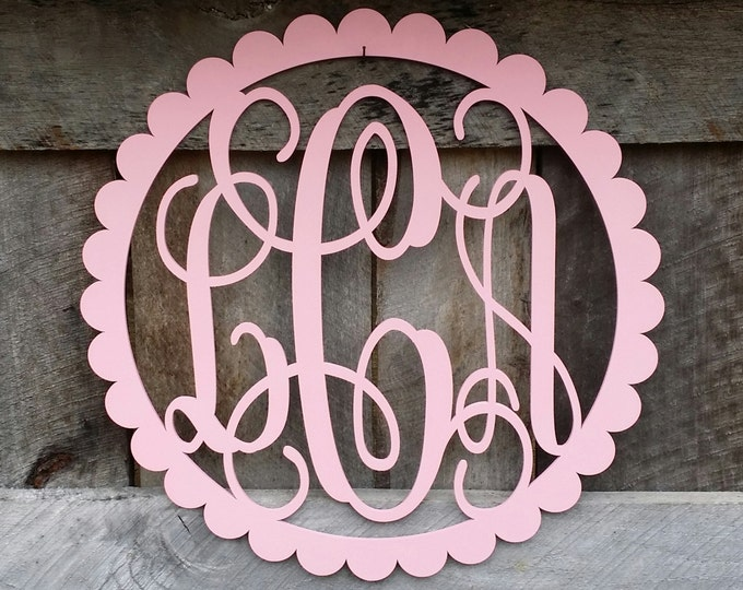Painted Wooden Monogram - Monogram Door Hanger - Nursery Wall Hanging - Wedding Monogram - Monogram Gift