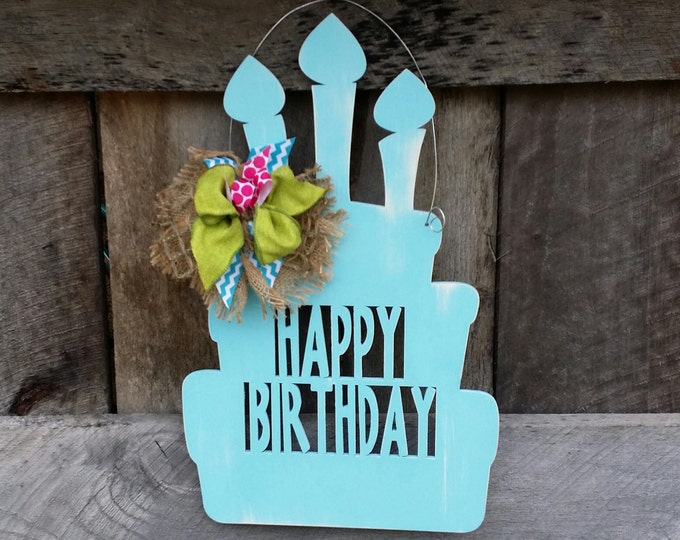 Happy Birthday Door Hanger - Birthday Party Wreath