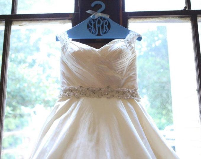 Monogram Hanger - Personalized Wedding Dress Hanger - Monogram Hanger For The Bride - Bridesmaids Gift