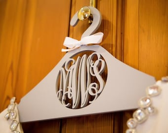 Personalized Wooden Hanger – Custom Bride Hanger – Personalized Wedding Dress Hanger - Bridesmaid Hangers *