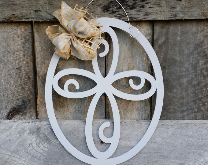 Cross Door Hanger - Painted Cross Wall Hanging - Mother's Day Gift - Housewarming Gift - Wedding Gift